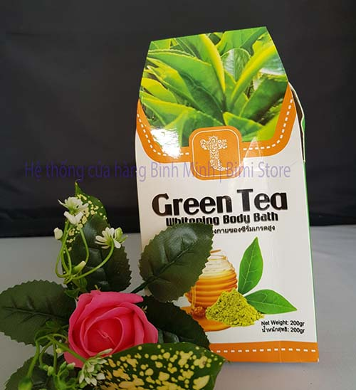 KEM TẮM TRẮNG TRÀ XANH GREEN TEA THÁI LAN